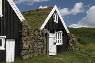 An old house of Sel farm. Skaftafell