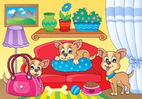 Cute dog theme image 2 - picture illustration.