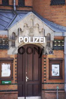Hafenpolizei Wache 2 an der Kehrwiederspitze in Hamburg