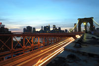 Brooklyn Bridge, Manhattan in New York City (USA)