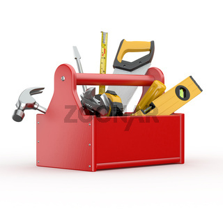 Toolbox with tools. Skrewdriver