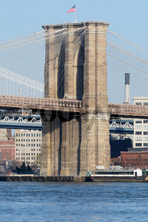 Brooklyn Bridge, Manhattan in New York City (USA)