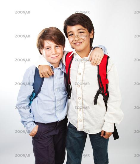 Two cheerful teenagers