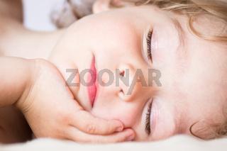 The sleeping baby