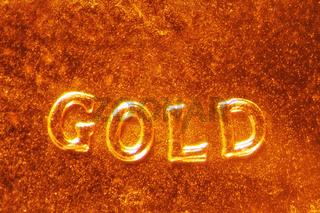 Mikrofoto einer Goldmünze