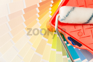 A variety of painting equipment