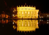 Opera house in Stuttgart at night