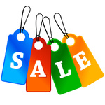 Four Sale labels