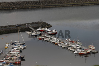 The harbour of the Eiði village. Eysturoy