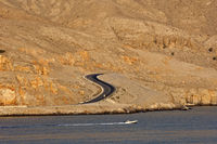 S-shaped segment of the coastal road to Khasab