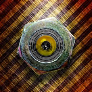 Stylish metallic loudspeaker