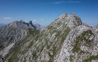 Mountain range in Tyrol Ausria