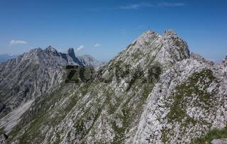 Bergrücken der Nordkette in Tirol Österreich
