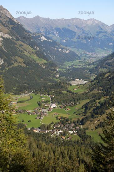 Kandersteg in the Kandertal Valley, Switzerland