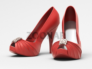 Women's red shoes