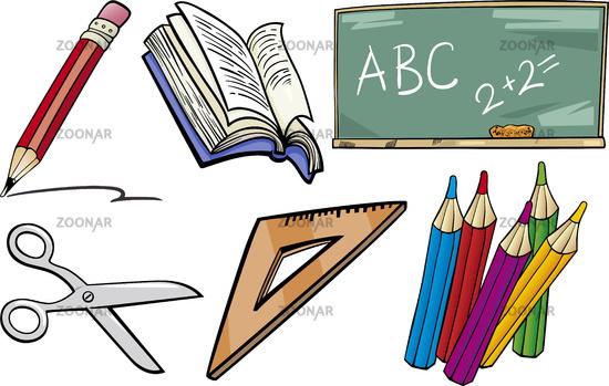 Рисовать школьные предметы