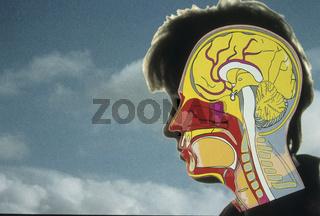 Symbolfoto menschlicher Kopf