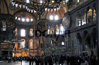 Hagia Sophia von Innen ( Istanbul, Türkei)