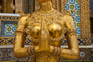 Female Garuda mid section in Grand Palace Bangkok Thailand