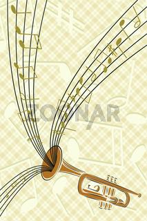 trumpet with musics