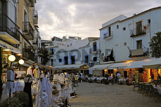 Spanien, Insel, Ibiza, Altstadt, Dalt Vila, Abends