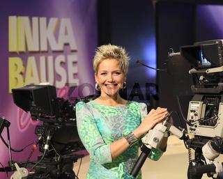 Moderatorin und Sängerin Inka Bause in der MDR-TV-Show 'Inka Bause live' am 19.04.2013