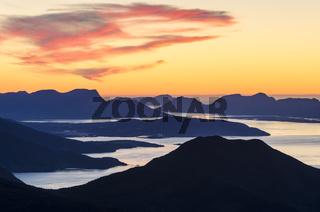 Blick auf Moldefjord und Nordsee, Moere und Romsdal