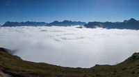 View from a mountain and clouds
