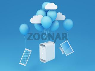 Flying desktop