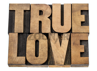 true love in wood type
