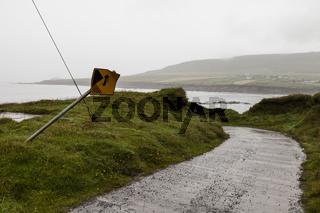 Straße an der Dingle Halbinsel in Irland