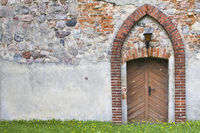Porch of an old chapel in Brandenburg (Northern Germany)
