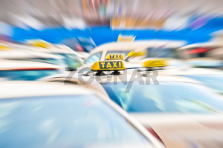 Taxi in a row