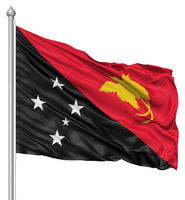 Waving flag of Papua New Guinea