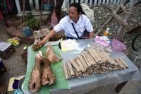 Verkaufstand auf einem Laotischen Markt