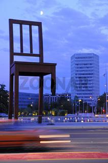 Broken chair in Geneva.