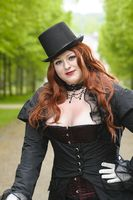 Plus size with black top-hat
