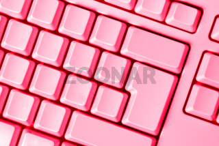 pink keyboard empty