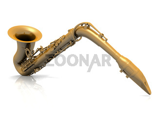 the saxophone on a white background