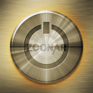 golden start button