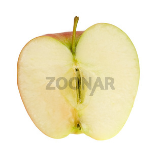 Fresh ripe apple with drops of water
