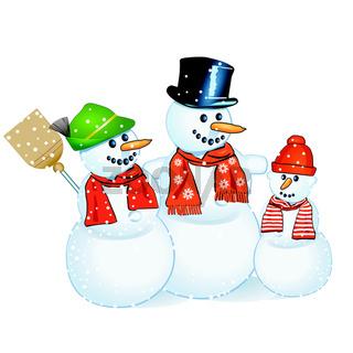 drei Schneemänner.eps