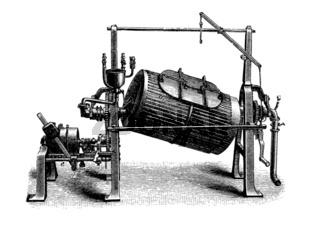 Appreturmaschine: Trommelwaschmaschine, Historisch
