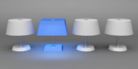 Unique blue lamp