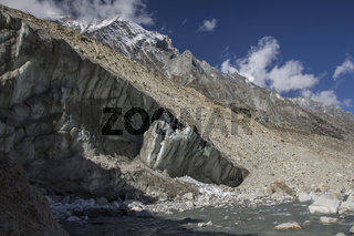 Gangotri glacier terminus
