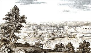 Panoramic view of Kuestrin, Kostrzyn nad Odrą, 17th century, Po