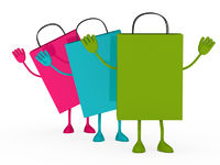 Colorful sale percent bags wave