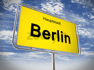 City limit sign of Berlin