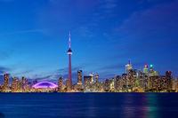 Toronto skyline in blue hour