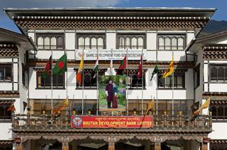 Sitz der Bhutan Development Bank, Thimphu, Bhutan